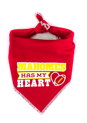 Mahomes has my heart Dog Bandana