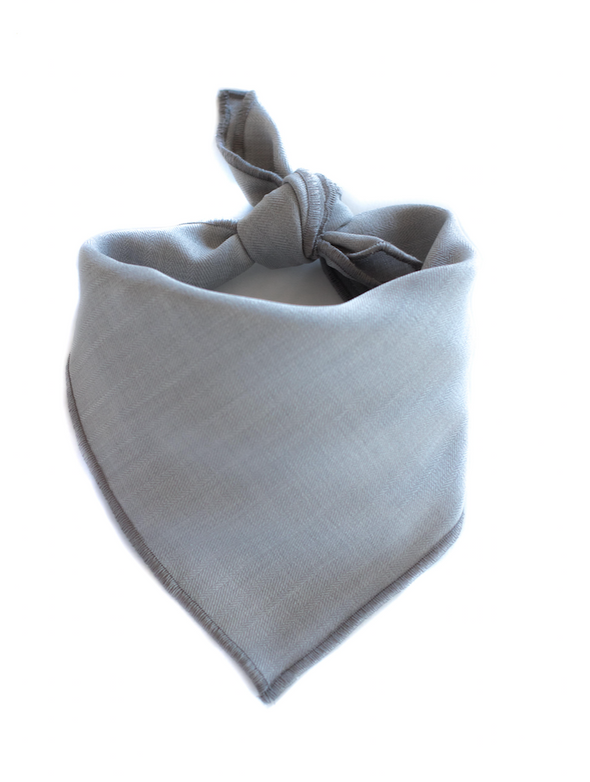Silver Suit Dog Bandana