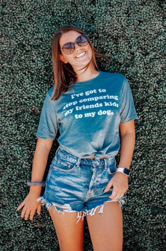 Stop Comparing Dog Mom Tee sold by Royal Collections and Co. made by Dapper Paw