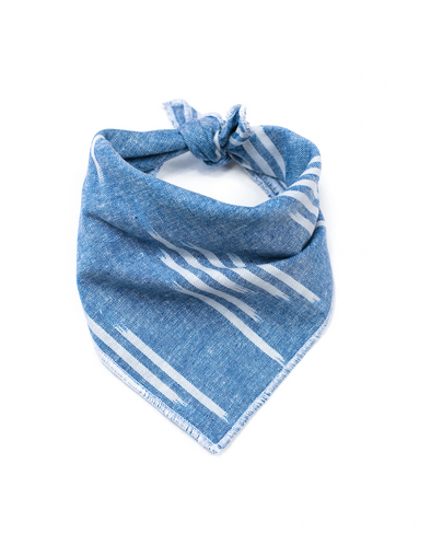 Streaked Denim Dog Bandana