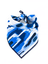 Streaks of Sapphire Dog Bandana made by Royal Collections and Co.