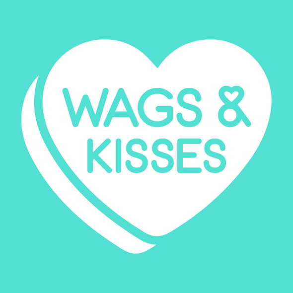 Wags and Kisses Candy Hearts Valentines Day Dog Bandana made by Royal Collections and Co-01