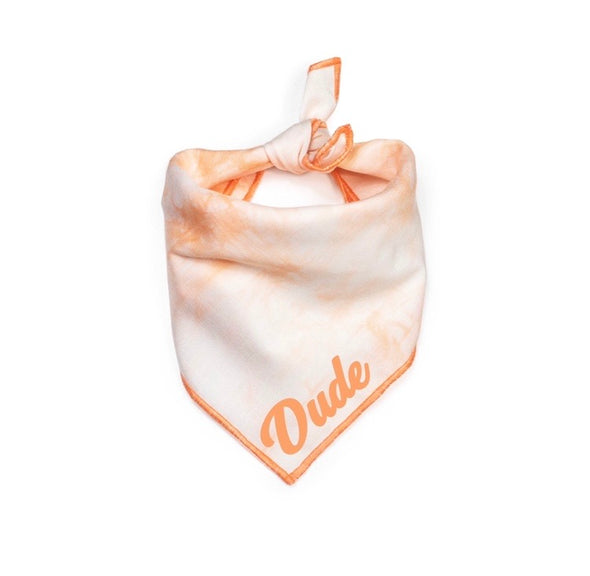 Peach Tie Die Summer Bandana made by Royal Collections and Co