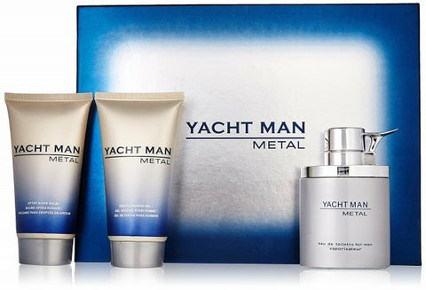 Yacht Man Metal Gift Set by Myrurgia - Luxury Perfumes Inc. -