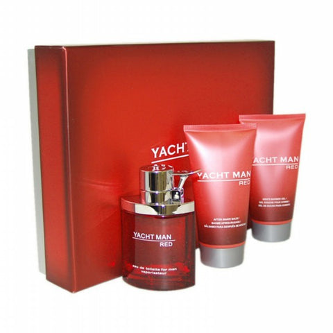 Yacht Man Red Gift Set by Myrurgia - Luxury Perfumes Inc. -