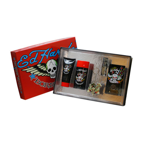 Ed Hardy Born Wild Gift Set by Christian Audigier