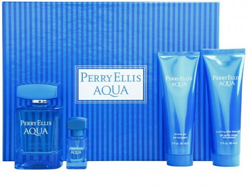 Perry Ellis Aqua Gift Set by Perry Ellis - Luxury Perfumes Inc. -