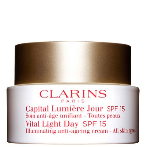 Clarins Vital Light Day Illuminating Anti-Ageing Cream SPF 15 (All Skin Type) by Clarins - Luxury Perfumes Inc. -