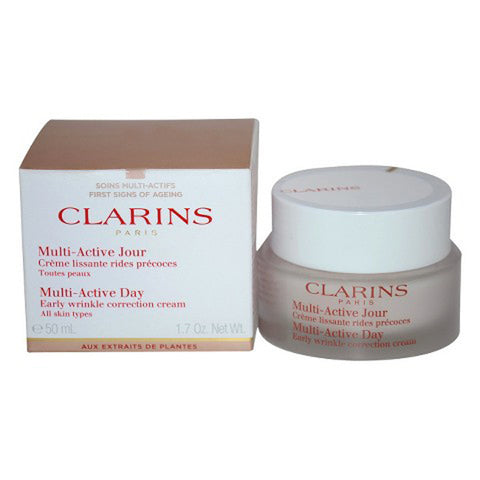 Clarins Multi-Active Day Early Wrinkle Correction Cream (All Skin Types) by Clarins - Luxury Perfumes Inc. -