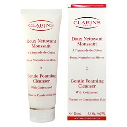 Clarins Gentle Foaming Cleanser with Cottonseed (Normal to Combination Skin) by Clarins - Luxury Perfumes Inc. -