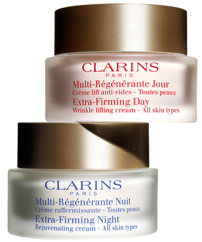 Clarins Extra-Firming Day Wrinkle Lifting Cream & Night Rejuvenating Cream by Clarins - Luxury Perfumes Inc. -