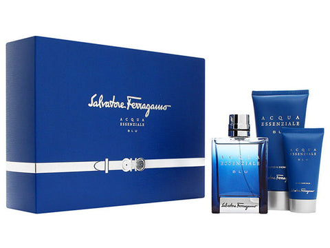 Acqua Essenziale Blu Gift Set by Salvatore Ferragamo - Luxury Perfumes Inc. -