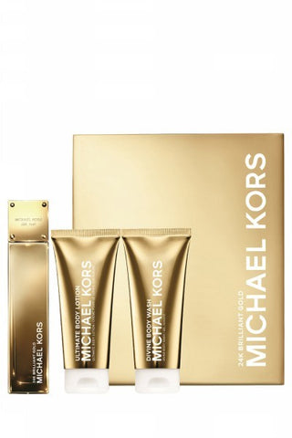 24K Brilliant Gold Gift Set by Michael Kors - Luxury Perfumes Inc. -