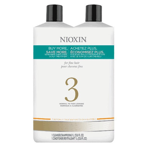 Nioxin System 3 Cleanser & Scalp Therapy Liter Duo by Nioxin - Luxury Perfumes Inc. -
