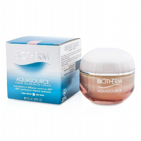 Aquasource 48h Continuous Release Hydration Rich Cream by Biotherm - Luxury Perfumes Inc. -