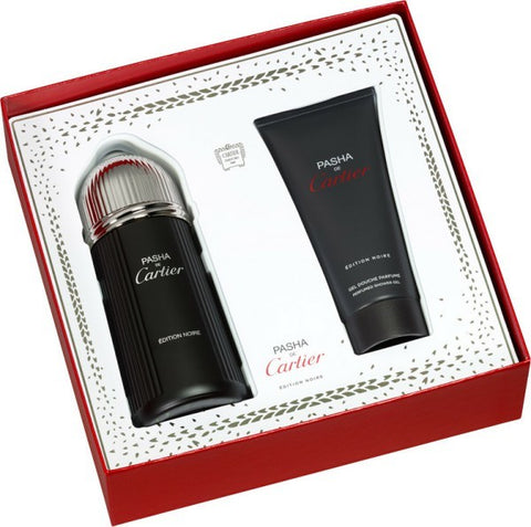 Pasha De Cartier Edition Noire Gift Set by Cartier - Luxury Perfumes Inc. -