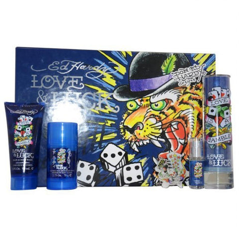 Ed Hardy Love & Luck Gift Set by Christian Audigier - Luxury Perfumes Inc. -