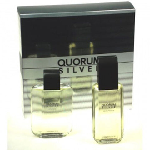 Quorum Silver Gift Set by Antonio Puig - Luxury Perfumes Inc. -
