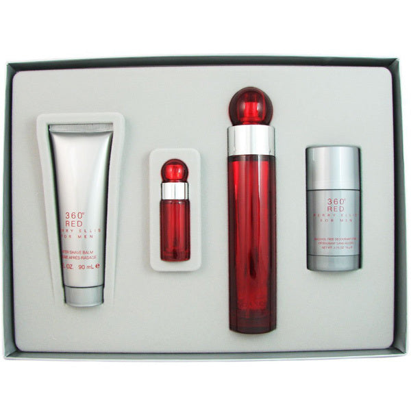 360 Red Gift Set by Perry Ellis - Luxury Perfumes Inc. -