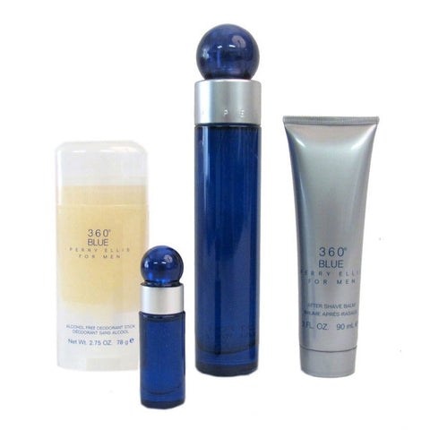 360 Blue Gift Set by Perry Ellis - Luxury Perfumes Inc. -