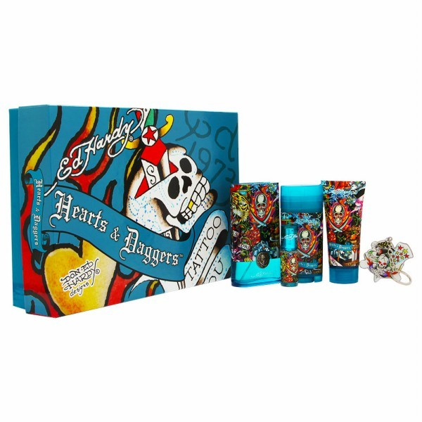 Ed Hardy Hearts & Daggers Gift Set by Christian Audigier - Luxury Perfumes Inc. -