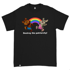DESTROY THE PATRIARCHY BLACK TEE
