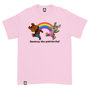 DESTROY THE PATRIARCHY PINK TEE