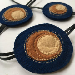 Shinzo recycled felt circle necklace by Mainichi