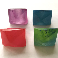 Facet Resin Rings Translucent Colours handcast by Mainichi