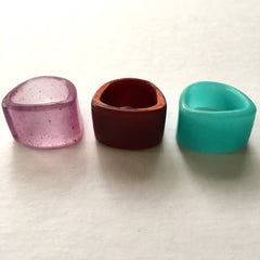 All New Resin Band Rings handcast by Mainichi