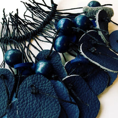 Kawa recycled leather necklace by Mainichi