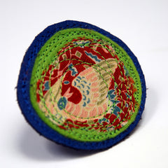 "Brooch ""Mushi"" Recycled Leather, Japanese Kimono Fabric by Mainichi"