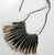 Digit recycled leather necklace by Mainichi