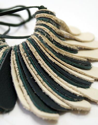 Digit Recycled Leather Necklace - Large