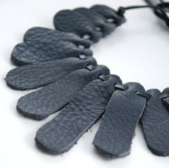 Sensu Recycled Leather Necklace by Mainichi