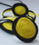 Shinzo Recycled Felt Necklace - Black/Yellow