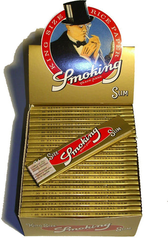 Smoking Slim Gold (50x33) - VapeTown.ch