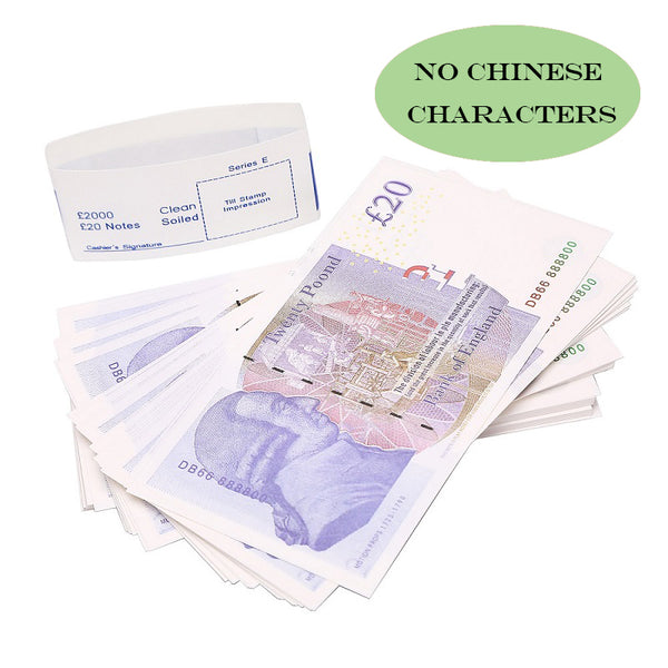 100X20£ Prop Money that Looks Real, fake 20 pound notes,Play Money