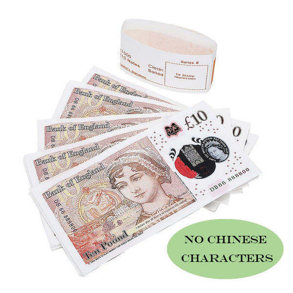 100X10£ Prop Money that Looks Real, fake 10 pound notes