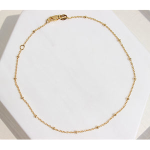 Gold Beaded Satellite Necklace