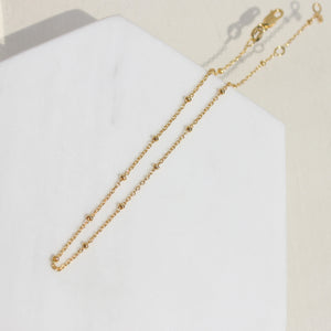 Yuki Sateille Bead Chain Anklet - Spoil Cupid Jewelry