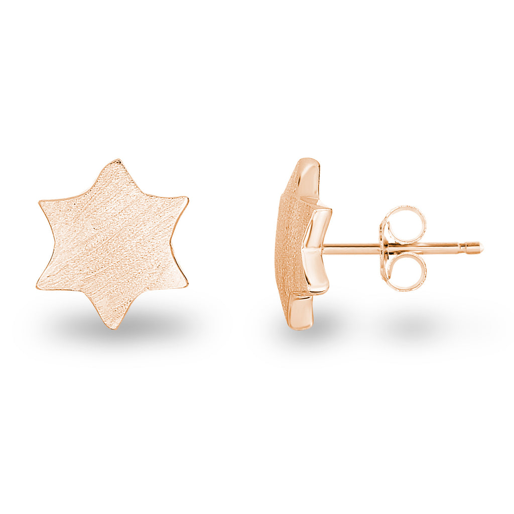 Matte Star David Studs - Spoil Cupid Jewelry