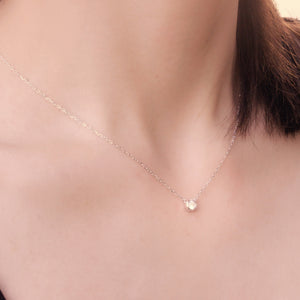 Bezel Set Solitaire Necklace