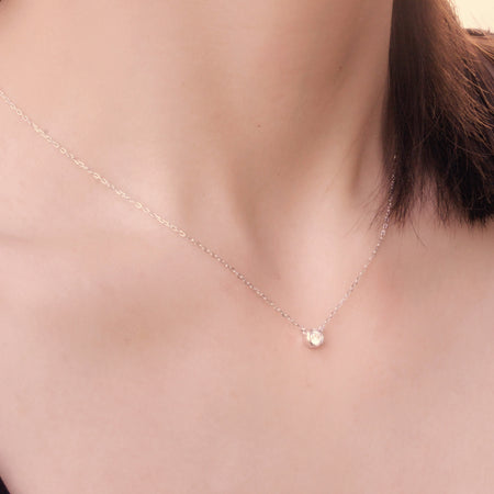 Tiara Minimal Bezel Necklace - Spoil Cupid Jewelry