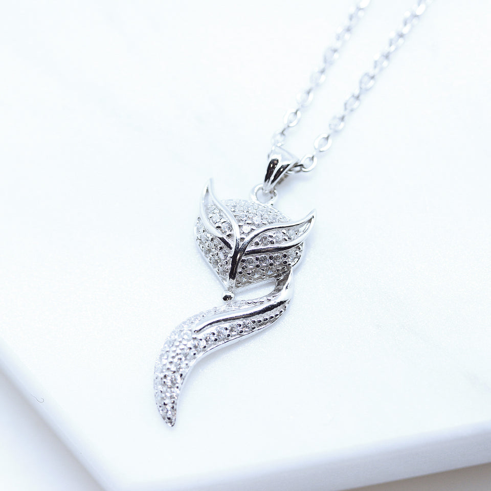 Fox Animial CZ Diamond Necklace - Spoil Cupid Jewelry