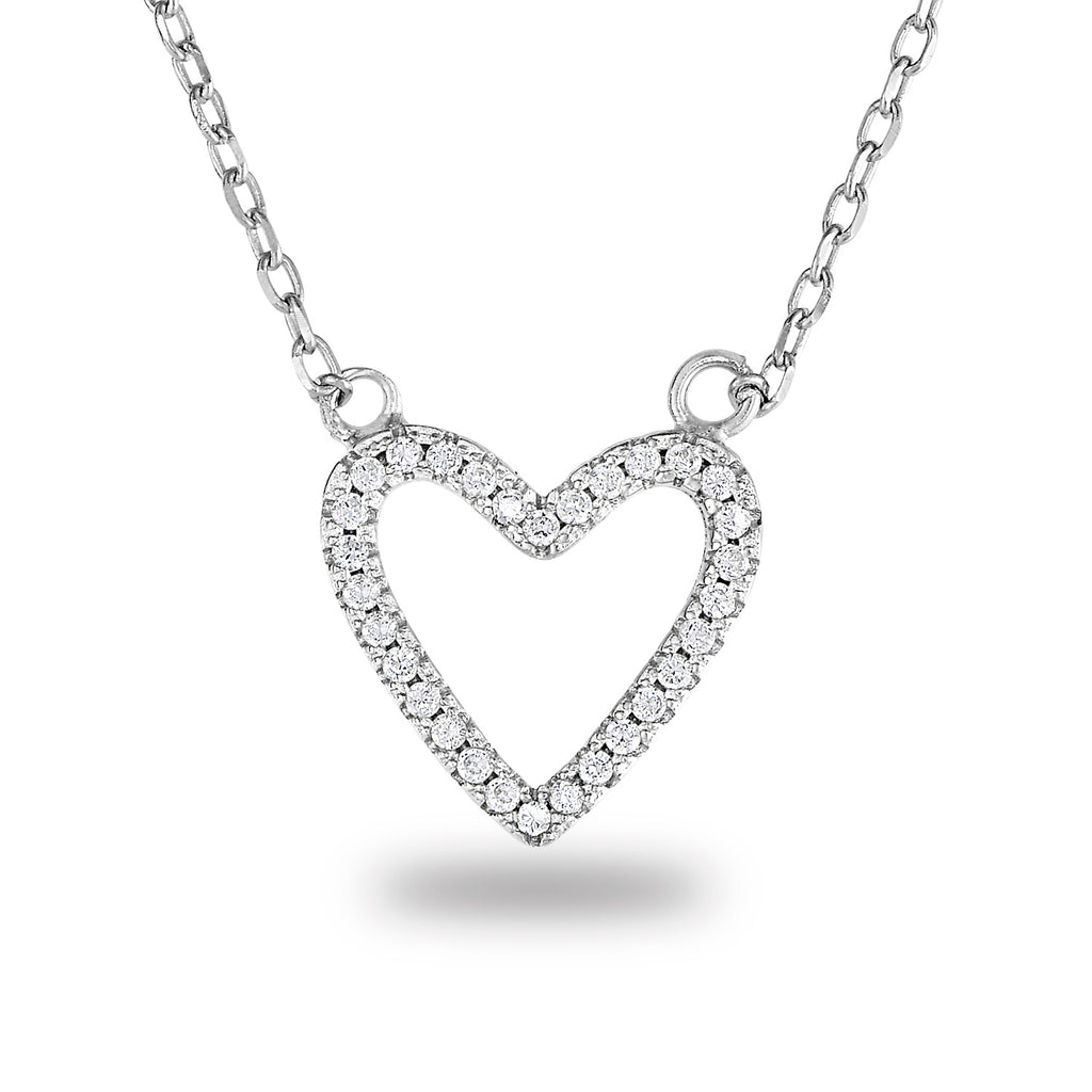 Zala Hollow Heart Necklace - Spoil Cupid Jewelry