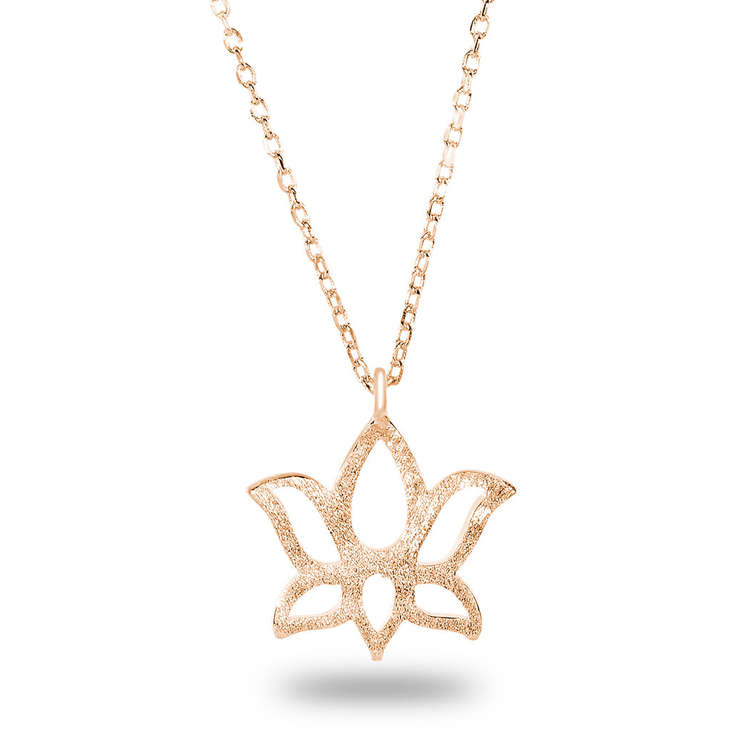 Kelilah Lotus Necklace - Spoil Cupid Jewelry