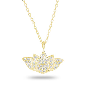 Lotus Flower Necklace - Spoil Cupid Jewelry