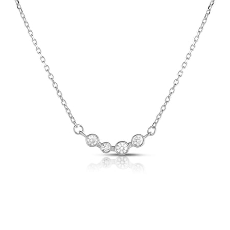 Vienna Bezel Necklace - Spoil Cupid Jewelry