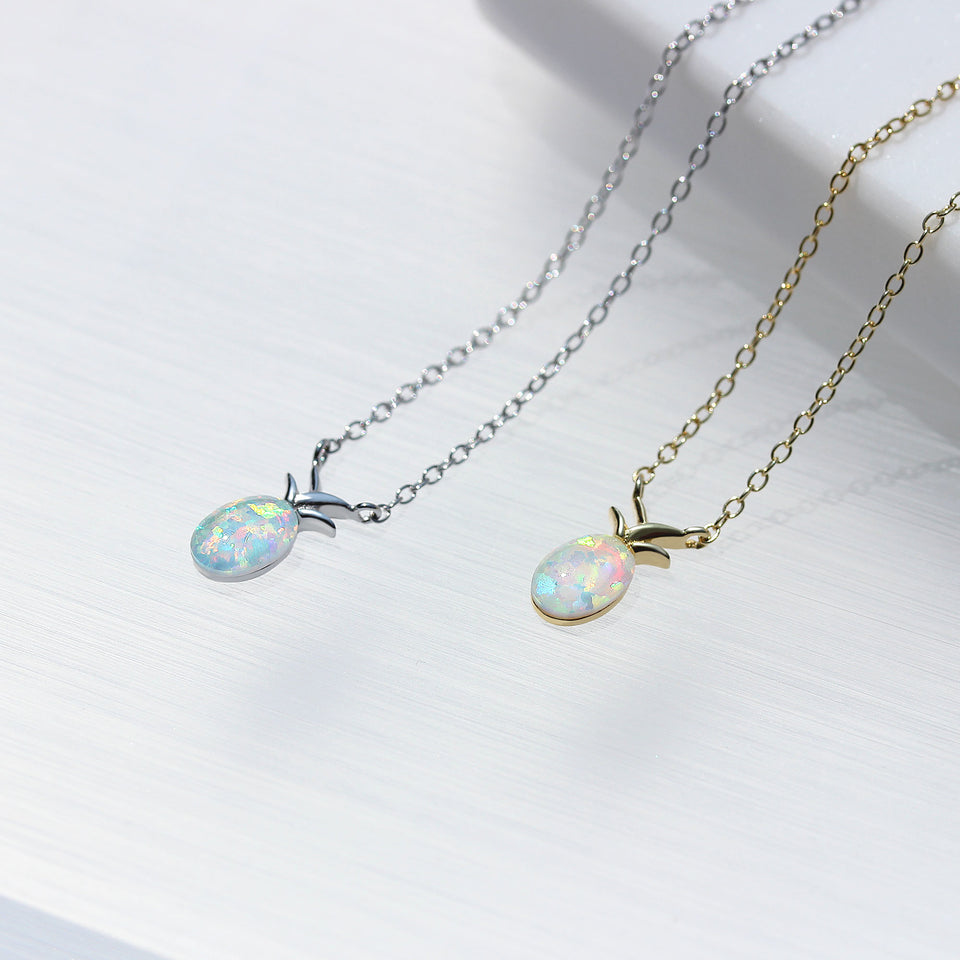 Pineapple Opal Necklace - Spoil Cupid Jewelry